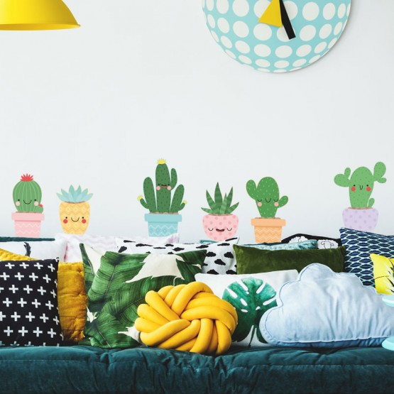 Stickers Cactus rigolos Stickers Chambres Enfants Gali Art