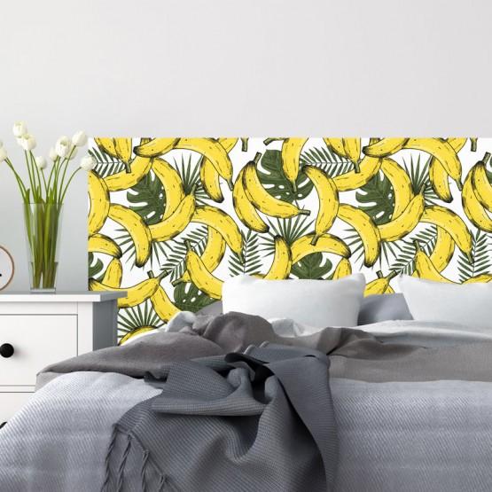 Tête de Lit Bananes Exotiques Stickers Têtes de Lit Gali Art