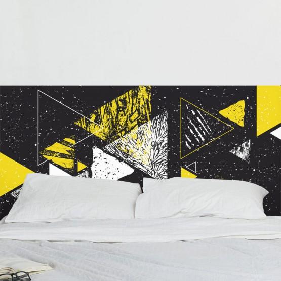 Tête de Lit Décoration Triangulaire Stickers Têtes de Lit Gali Art