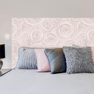 Sticker Tête de Lit Roses en spirale