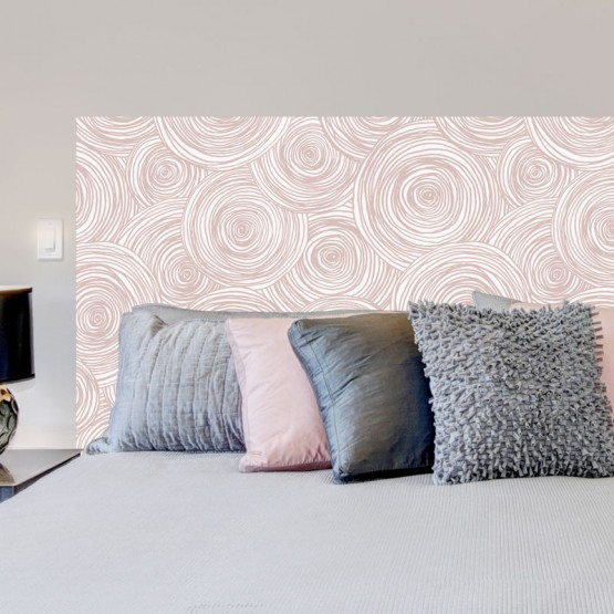Sticker Tête de Lit Roses en spirale Stickers Têtes de Lit Gali Art