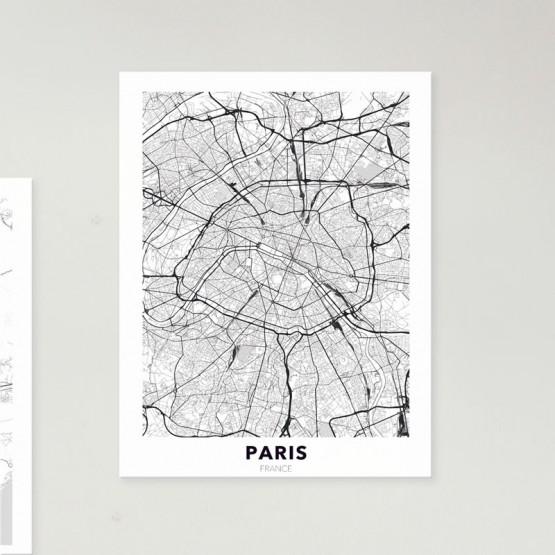 Tableau City Map Paris Tableaux Urbain