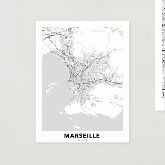 Tableau City Map Marseille Tableaux Urbain