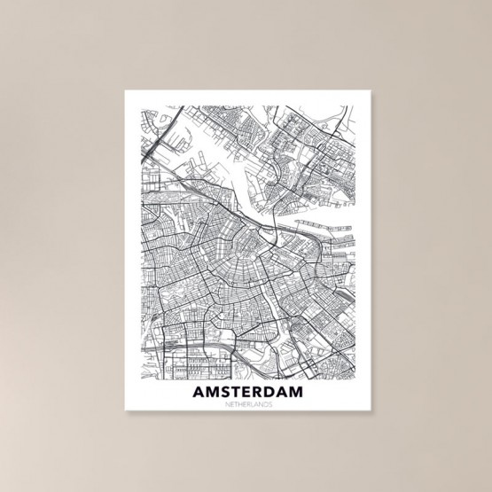 Tableau City Map Amsterdam Tableaux Urbain