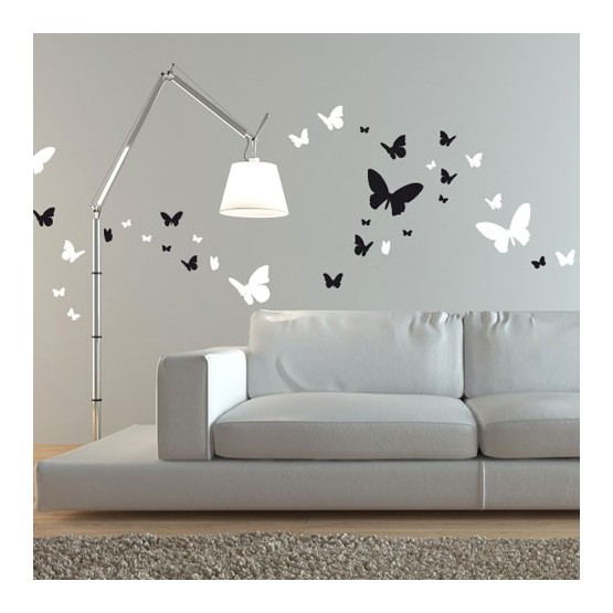 110 Stickers Papillons (2 couleurs)