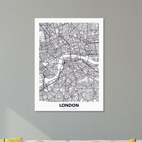 Tableau City Map London Tableaux Urbain