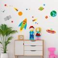 Stickers Enfant Martien dans l'espace Stickers Imprimés Gali Art