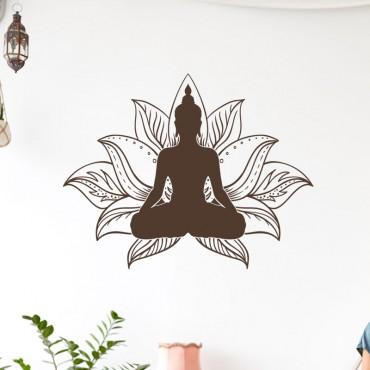 Stickers Bouddha Lotus Zen