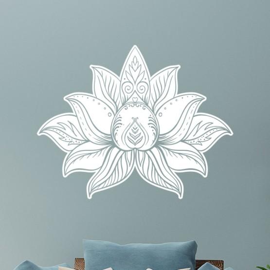 Stickers Fleur de Lotus design Stickers Zen Gali Art