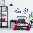 Sticker Foot avec Prénom Stickers Chambres Enfants Gali Art