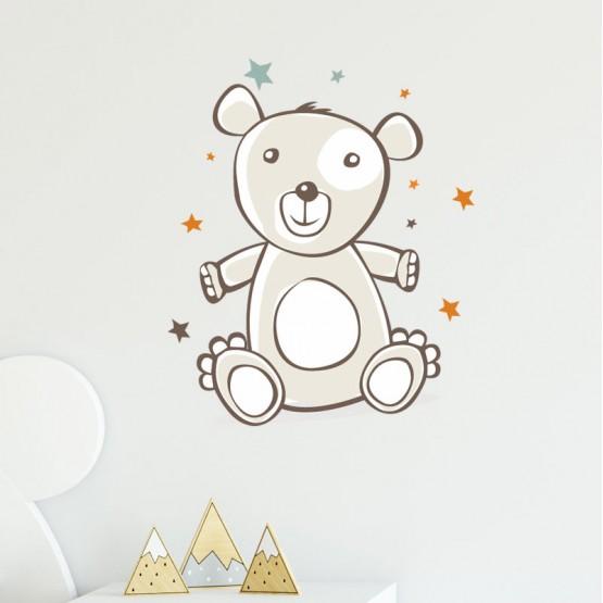 Stickers Nounours et ses étoiles Stickers Imprimés Gali Art