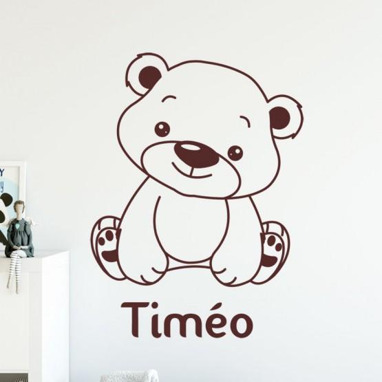 Sticker Ourson à personnaliser Stickers Chambres Enfants Gali Art