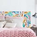 Tête de Lit Feuillage Coloré Stickers Têtes de Lit Gali Art