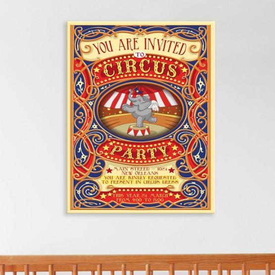 Tableau Affiche de Cirque Tableaux Enfant Gali Art