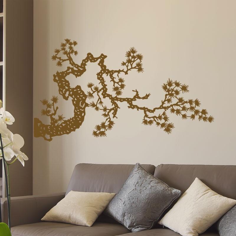 sticker branche japonaise d coration murale zen. Black Bedroom Furniture Sets. Home Design Ideas