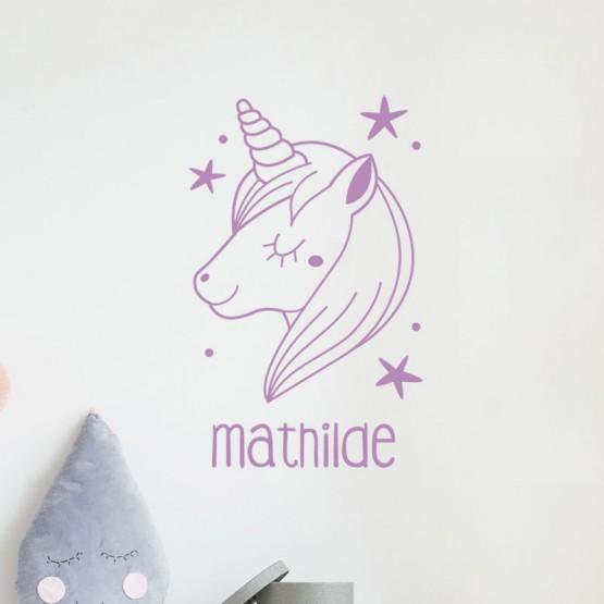 Stickers Licorne magique avec prénom Stickers Chambres Enfants Gali Art