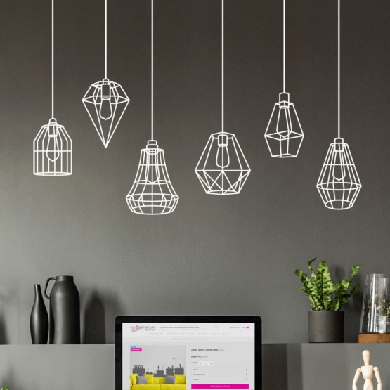 Stickers Lampes Industrielles Stickers Design Gali Art