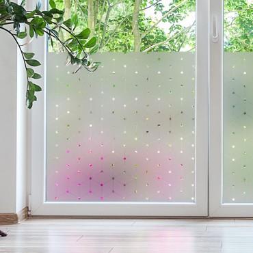 Sticker opacifiant fenêtre: Cubes 3D