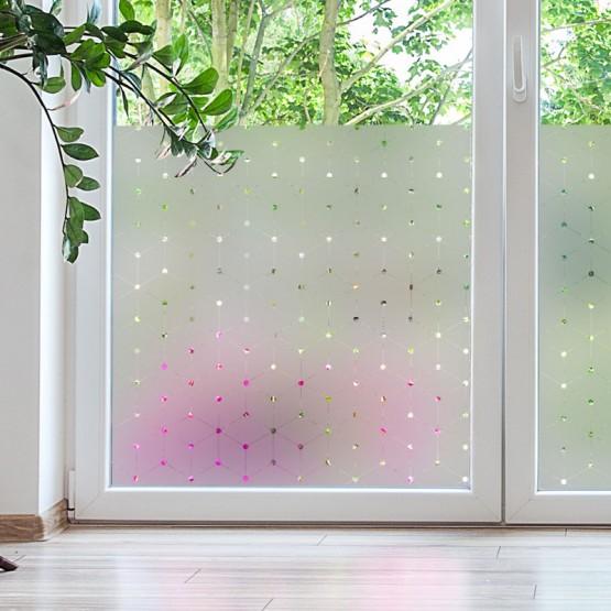 Sticker opacifiant fenêtre: Cubes 3D Stickers Occultant Fenêtre Gali Art