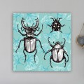 Tableau Insectes et Gingko porte bonheur Tableaux Animaux Gali Art
