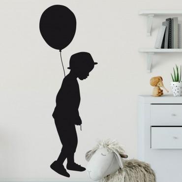 Sticker Garçon au Ballon
