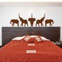 Sticker Fresque Éléphants