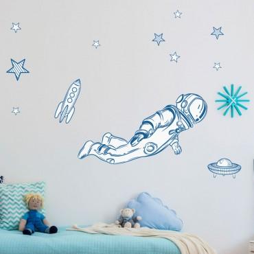 Sticker Astronaute avec décor