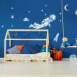 Sticker Astronaute avec décor Stickers Chambres Enfants Gali Art