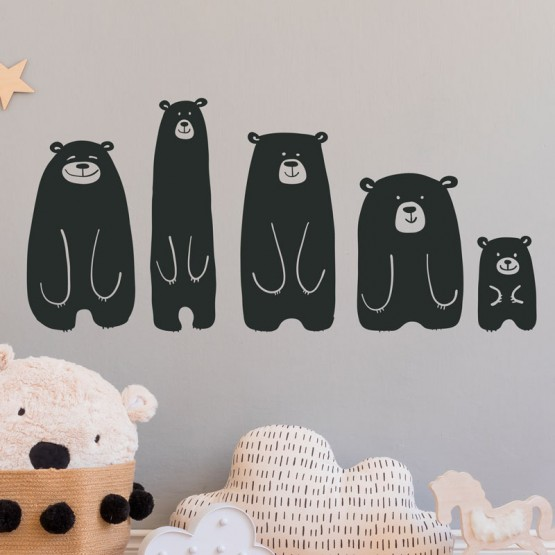 Stickers Famille Ours Stickers Chambres Enfants Gali Art