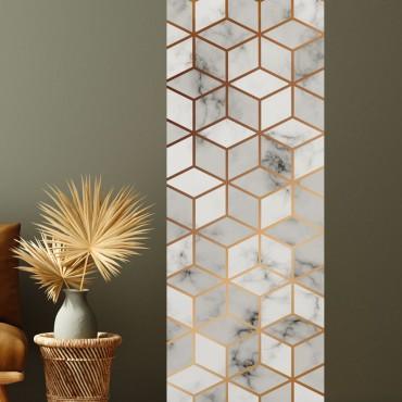Décor imprimé vertical Cubes Marbre