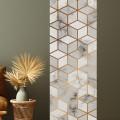 Décor imprimé vertical Cubes Marbre Lès Décoratif Gali Art
