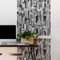 Décor imprimé vertical Building Lès Décoratif Gali Art