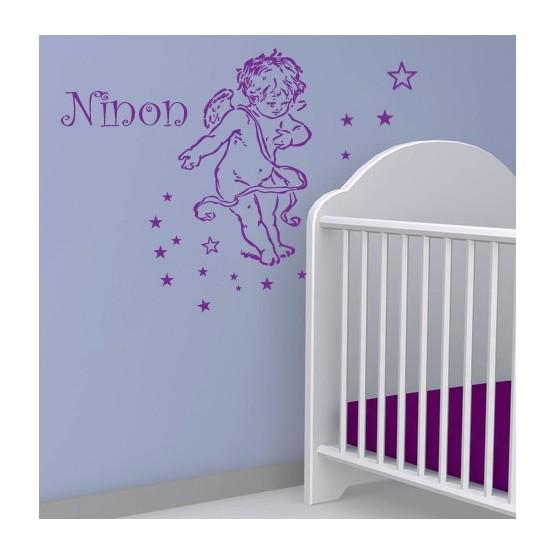 Sticker Ange Personnalisé avec Prénom Stickers Chambres Enfants Gali Art