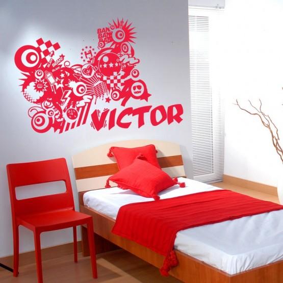 Sticker Graffiti personnalisé Stickers Chambres Enfants Gali Art