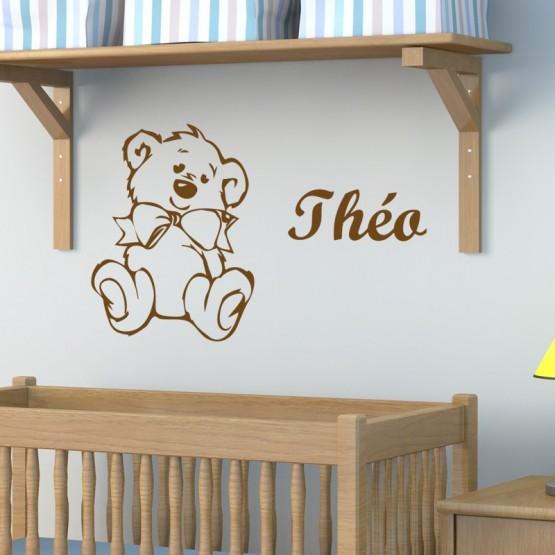 Sticker Nounours à personnaliser Stickers Chambres Enfants Gali Art