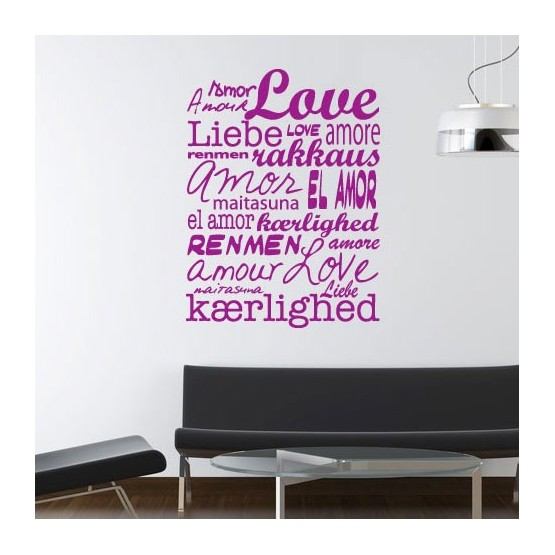 Sticker Texte Amour Universel Stickers Texte et Citations Gali Art