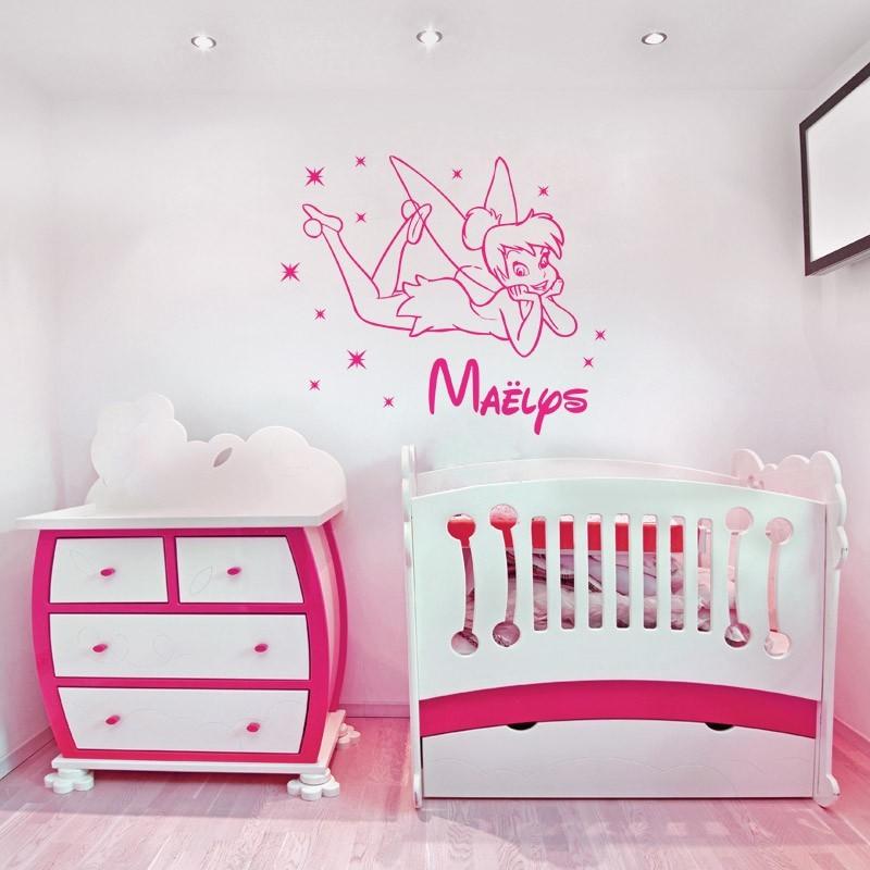stickers f e personnalis avec pr nom d coratio murale. Black Bedroom Furniture Sets. Home Design Ideas