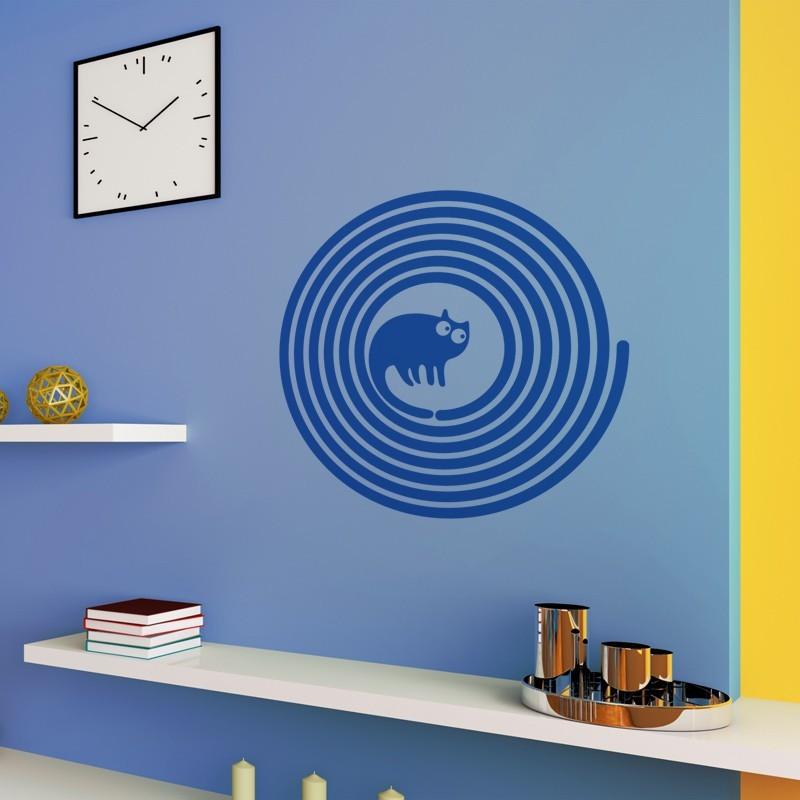 sticker mural chat pop d coration geek pour le bureau. Black Bedroom Furniture Sets. Home Design Ideas