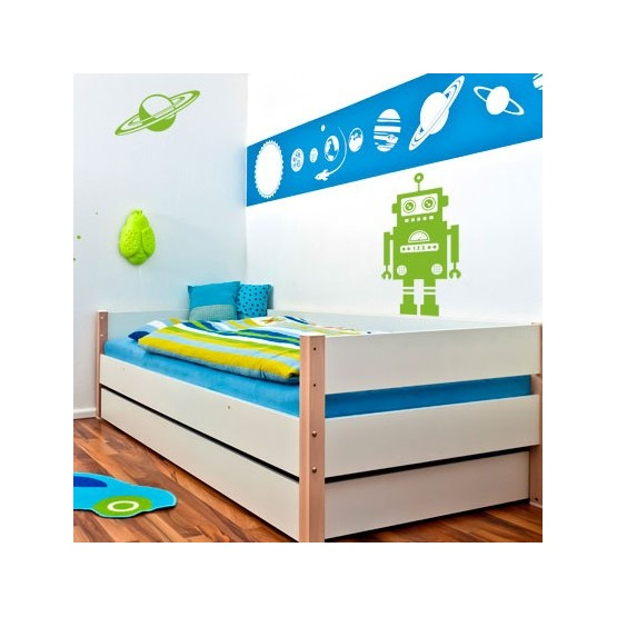sticker th me espace d coration chambre gar on robot fus e plan te. Black Bedroom Furniture Sets. Home Design Ideas