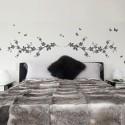 Sticker Tête de lit Printanière et Papillons