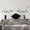 Sticker Tête de lit Printanière et Papillons Stickers Têtes de Lit