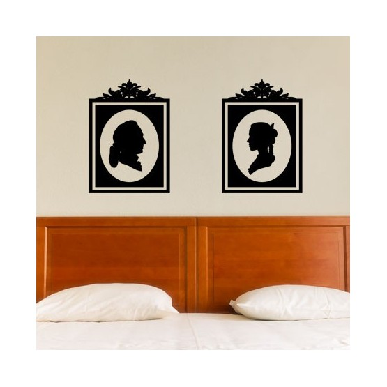 Stickers Duo de Portraits Baroque Stickers Baroque Gali Art