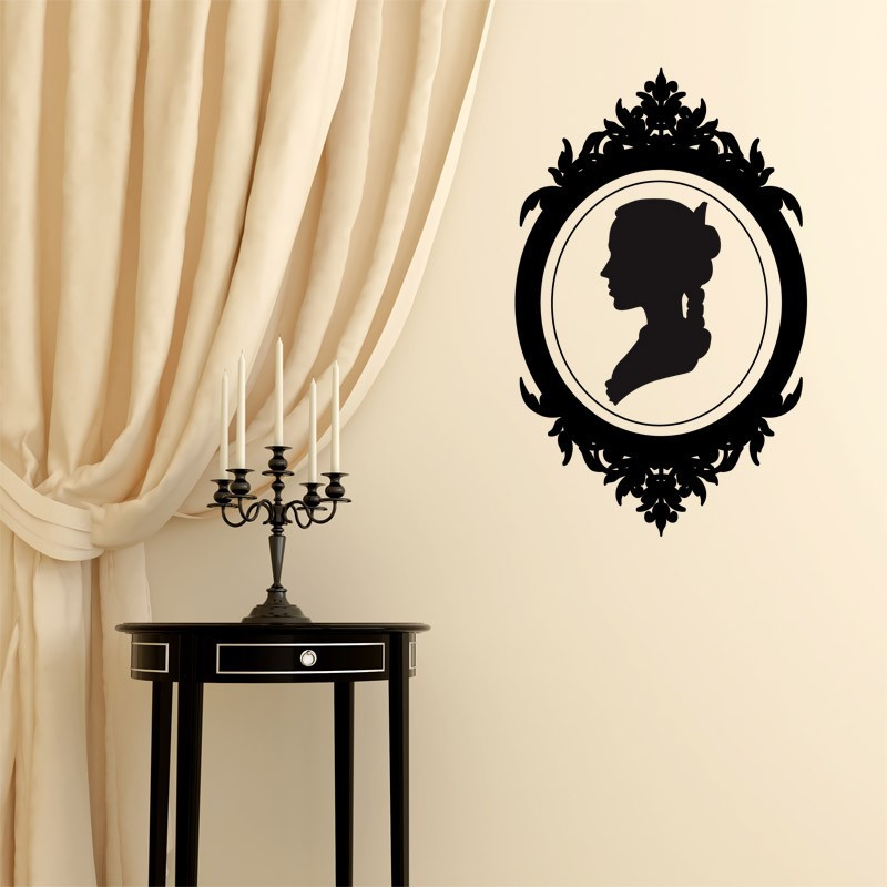sticker cam e style baroque d coration chambre baroque moderne. Black Bedroom Furniture Sets. Home Design Ideas