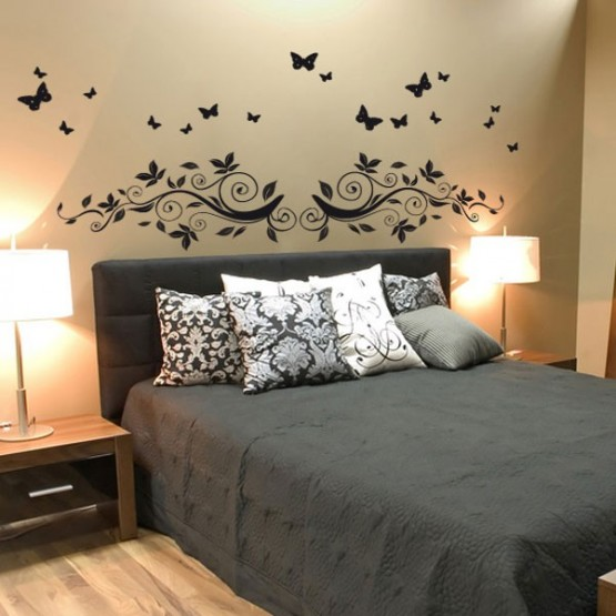 stickers t te de lit automnales d coration pour chambres. Black Bedroom Furniture Sets. Home Design Ideas