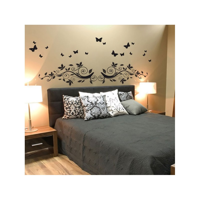 stickers t te de lit automnales d coration pour chambres design. Black Bedroom Furniture Sets. Home Design Ideas
