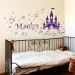 Stickers Château de Princesse avec prénom Stickers Chambres Enfants Gali Art