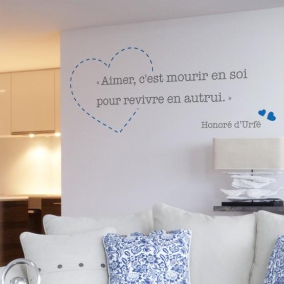 Sticker citation d 39 amour honor d 39 urf d coration murale romantique - Phrase a mettre sur une photo ...