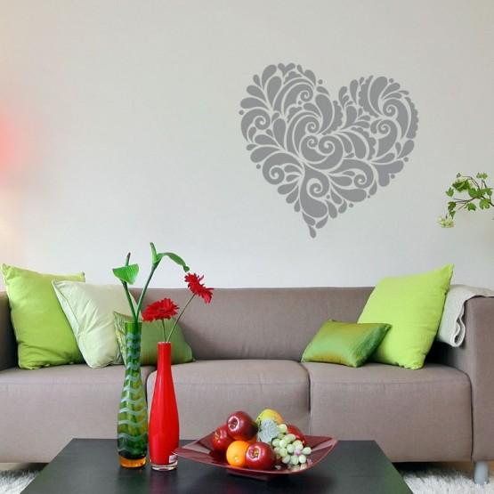 Sticker Coeur Romantique Stickers Amour Gali Art