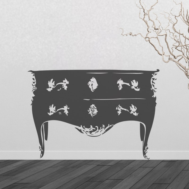 sticker commode style baroque d coration chambre baroque moderne. Black Bedroom Furniture Sets. Home Design Ideas