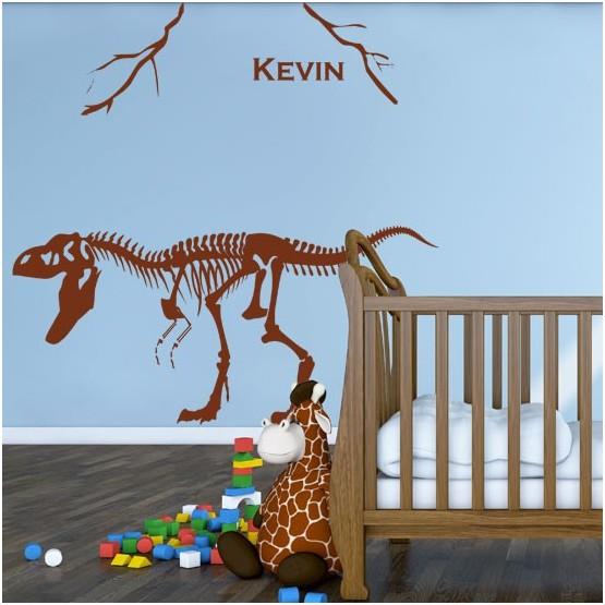Sticker Dinosaure à personnaliser Stickers Chambres Enfants Gali Art